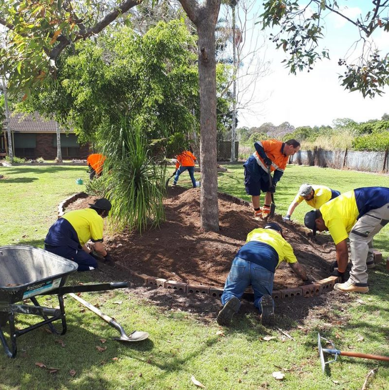 Workers planting a tree | Astra Group Service