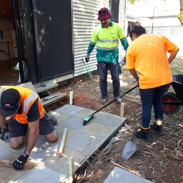 Landscape Students Paving | Astra Group Services