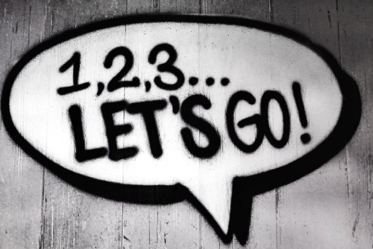 Image of 1-2-3 lets go grafiti