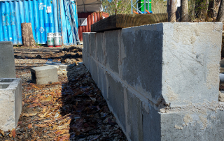 Blocklaying outside | Featured image for AHC30916 Certificate III in Landscape Construction