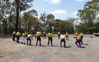 Tradies streching | Astra Group Services